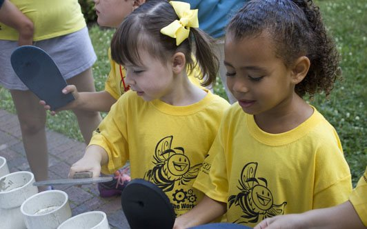 Busy Bee Camp at The Works engages young children with fun, hands-on art and science activities while exploring some of our coolest exhibits and artifacts. A great first camp experience!
