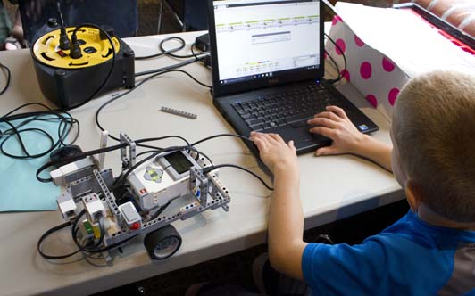Our popular robotics camps are offered for several age groups.